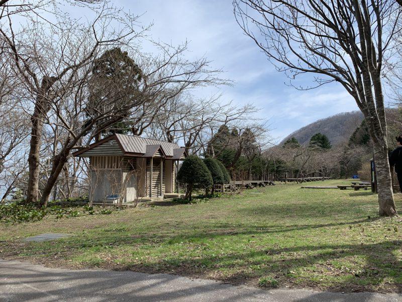 いこいの広場 函館山 桜 登山